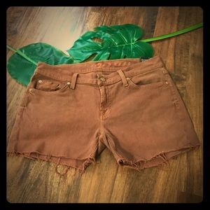 7 For All of Mankind Rust Color Jean Shorts